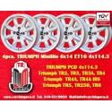 4 Stk. Felgen Triumph Minilite 6x14 ET16 4x114.3