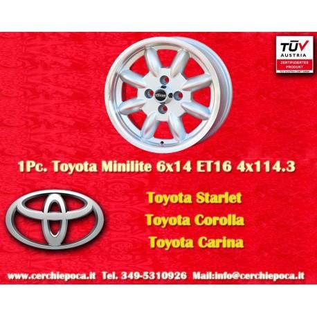 4 pcs. Minilite 6x14 ET16 4x114.3 wheels