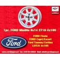 1 Stk. Felge Ford Minilite 6x14 ET16 4x108