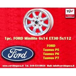 1 pc. Ford Minilite 6x14 ET30 5x112 wheel