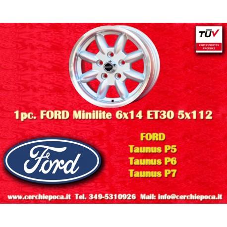 1 Stk. Felge Ford Minilite 6x14 ET30 5x112
