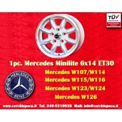 1 pc. Mercedes Benz Minilite style 6x14 ET30 5x112 wheel