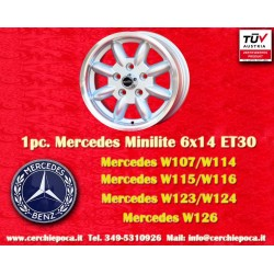 1 Stk. Felge Mercedes Benz Minilite style 6x14 ET30 5x112