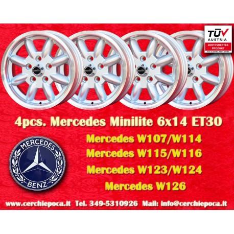 4 Stk. Felgen Mercedes Benz Minilite style 6x14 ET30 5x112