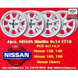 4 pcs. jantes Nissan Minilite6x14 ET16 4x114.3