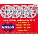 4 uds llantas Nissan Minilite 6x14 ET16 4x114.3