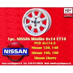 1 pz.llanta Minilite 6x14 ET16 4x114.3