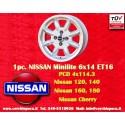 1 pz.llanta Nissan Minilite 6x14 ET16 4x114.3