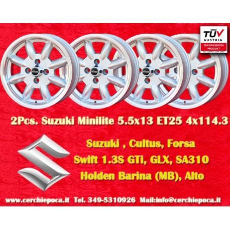 4 Stk. Felgen Suzuki Minilite6x14 ET16 4x114.3