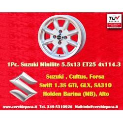 4 pcs. llantas Suzuki Minilite 6x14 ET16 4x114.3