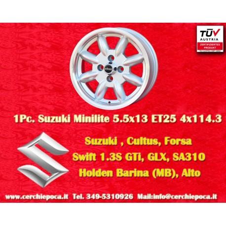 4 pcs. jantes Suzuki  Minilite 6x14 ET16 4x114.3