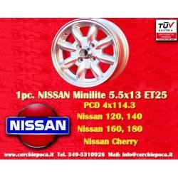 1 pc. cerchio Minilite 5.5x13 ET25 4x114.3