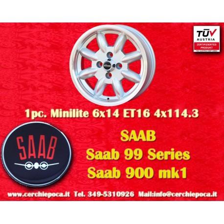 1 pc. Saab Minilite 6x14 ET16 4x114.3