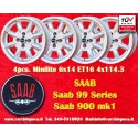 4 pcs. cerchi Saab Minilite 6x14 ET16 4x114.3
