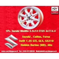 1 pc. llanta Suzuki Minilite 5.5x13 ET25 4x114.3