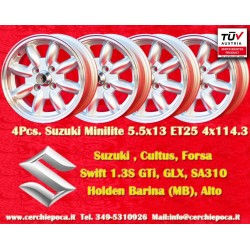 1 Stk. Felge Suzuki Minilite 5.5x13 ET25 4x114.3