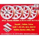 4 Stk. Felgen Suzuki Minilite 5.5x13 ET25 4x114.3
