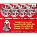 4 pcs. Triumph Minilite 5.5x15 ET15 4x114.3 wheels