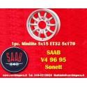 1 Stk. Felge Saab 95 96 V4 Minilite style 5x15 ET32 5x170