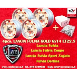 4 pcs. wheels Lancia Fulvia Cromodora CD28 6x14 with FREE BOLTS