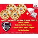 4 pcs. wheels Lancia Fulvia Cromodora Gold CD28 6x14 with FREE BOLTS