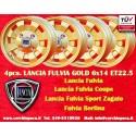 4 Stk. Felgen Lancia Fulvia Cromodora Gold CD28 6x14 ET22.5 4x130