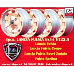 4 Stk. Lancia Fulvia Cromodora CD28 6x14 ET22.5 4x130