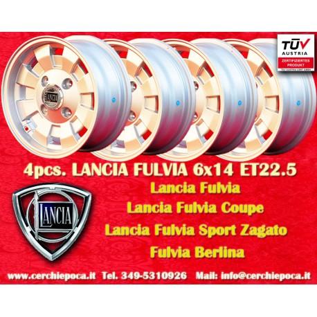 4 pcs. Lancia Fulvia Cromodora CD28 6x14 ET22.5 4x130