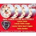 4 pz. llantas Fulvia Cromodora CD28 6x14 ET22.5 4x130
