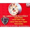 1 pc. cerchio Lancia Fulvia Cromodora CD28 6x14 ET22.5 4x130