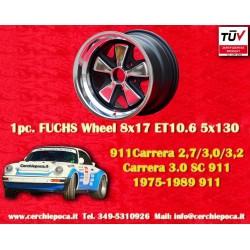 1 pc. cerchio Porsche 911 Fuchs 8x17 ET10.6 5x130 Old School
