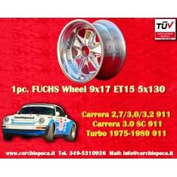 1 pc. cerchio Porsche 911 Fuchs 9x17 ET15 5x130 polished