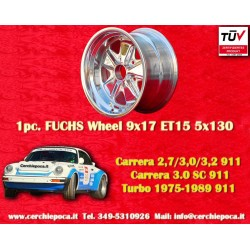 1 pc. Porsche 911 Fuchs 9x17 ET15 5x130w wheel polished