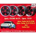 Porsche 911 2 pcs. Fuchs 6x15 ET36 + 2 pcs. 7x15 ET23.3 5x130 matt black