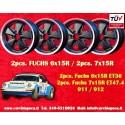 4 pcs. Fuchs Porsche 911R Small Body 2 pcs. 6x15 ET36 + 2 pcs. 7x15 ET47.4 Deep Six Matt Black