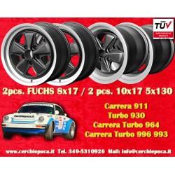 4 pcs. Porsche 911 Fuchs 2 pcs. 8x17 ET10.6 + 2 pcs. 10x17 ET-27 PCD 5x130 Black