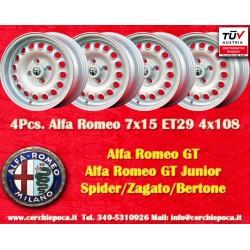 4 pcs. Alfa Romeo GT GTA GIULIA 7x15 ET29 4x108