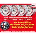 4 pcs. jantes Alfa Romeo GT GTA 7x15 2 pcs. ET29 + 2 pcs. ET35 PCD 4x108
