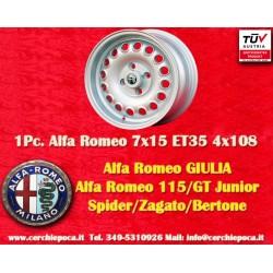 1 pc. Alfa Romeo jante GT GTA 7x15 ET35 PCD 4x108