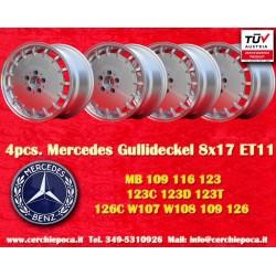 4 pz. llantas Mercedes Gullideckel style 8x17 ET11 5x112