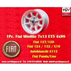 1 pc. wheel Fiat Minilite 7x13 ET5 4x98
