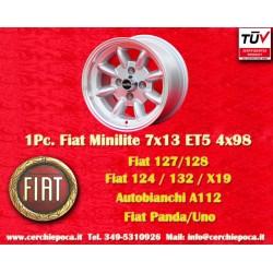 1 Stk. Felge Fiat Minilite 7x13 ET5 4x98