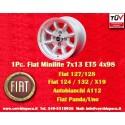 1 pc. jante Fiat Minilite 7x13 ET5 4x98