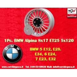 1 pz. llanta BMW Alpina style 8x17 ET25 5x120