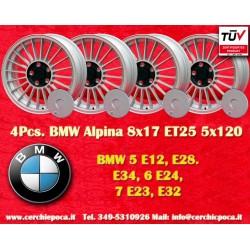 4 pcs. Alpina style 8x17 ET25 5x120 wheels