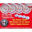 4 pcs. jantes Alfa Romeo 6x14 ET30 4x108 avec Campagnolo goujons