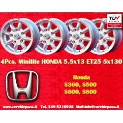 4 pz. llantas Honda 5.5x13 ET25 5x130