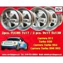 4 pcs. Porsche 911 Fuchs 2 pcs. 7x17 ET23.3 + 2 pcs. 9x17 ET15 PCD 5x130 vollpoliert