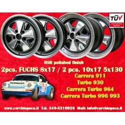 4 pcs. Porsche 911 Fuchs 2 pcs. 7x17 ET23.3 + 2 pcs. 9x17 ET15 PCD 5x130 RSR style wheels
