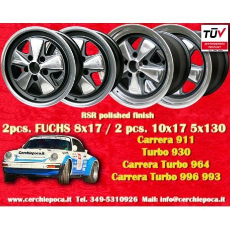 4 pcs. Porsche 911 Fuchs 2 pcs. 7x17 ET23.3 + 2 pcs. 9x17 ET15 PCD 5x130 RSR style